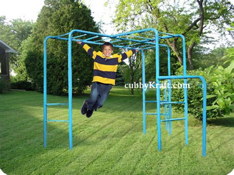 backyard playsets with monkey bars escape monkey bars playground equipment from cubbykraft