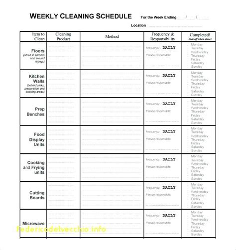 House Cleaning Schedule Daily Weekly Monthly Daily Cleaning Checklist Template Lovely Editable Editable Cleaning Schedule Template
