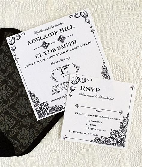 Vintage Iron Lace Square Invitation Template Download Print Rsvp Invitation Template