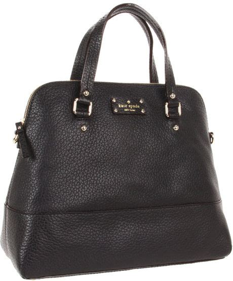 Tas Kate Spade New York Grove Court Maise Satchel 412 Semi Platinum kate spade grove court large maise satchel in black lyst