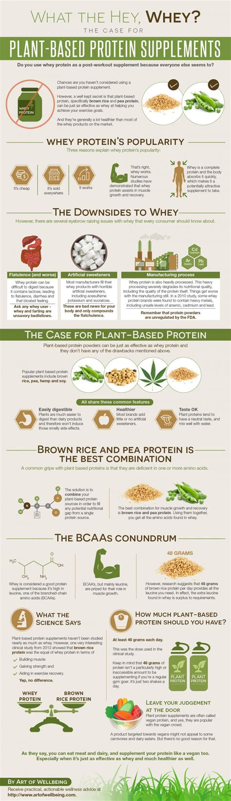 supplement infographic plant based protein supplements vs whey infographic