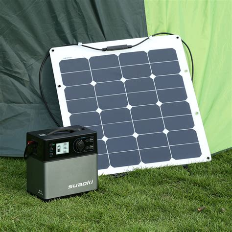 Solar Power Outlet For Lights Suaoki Portable 400wh Solar Panel Electric Power Bank