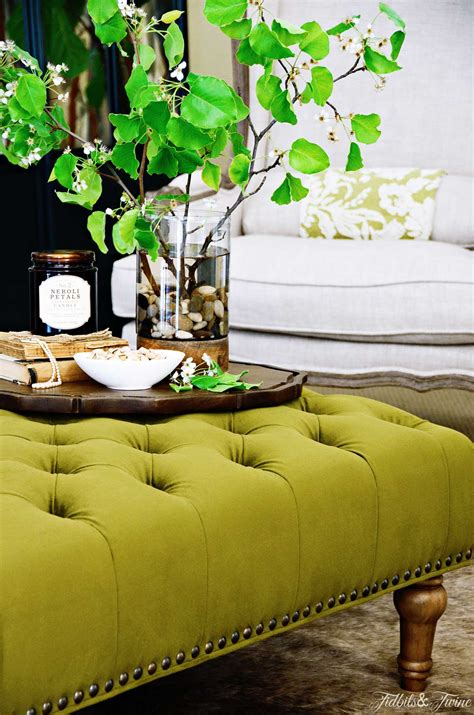 how to decorate an ottoman how to create a coffee vignette discover
