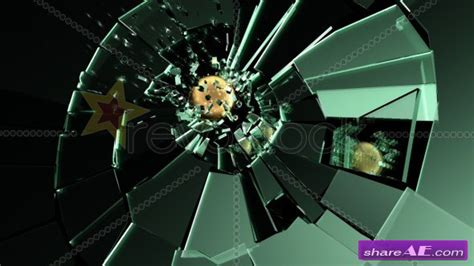Revostock After Effects Templates Free by Glass Shatter After Effects Project Revostock 187 Free