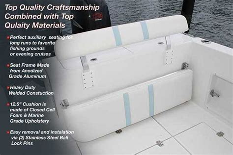 Folding Boat Bench Seat Marine Seats Back Rest For Boats Birdsall Marine Design