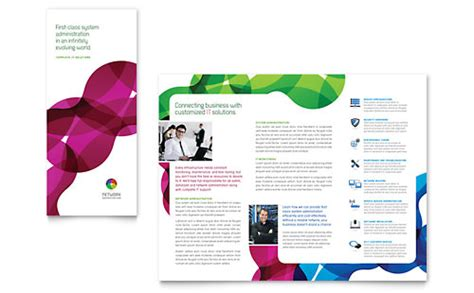 technology tri fold brochure templates word publisher