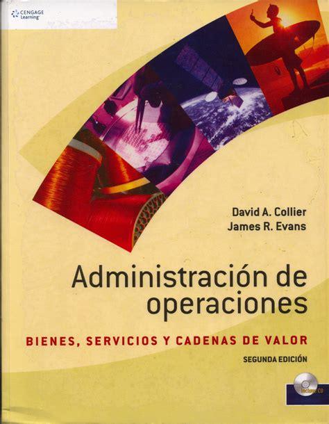 libro operaciones panzer las administraci 243 n de operaciones 183 universidad esan
