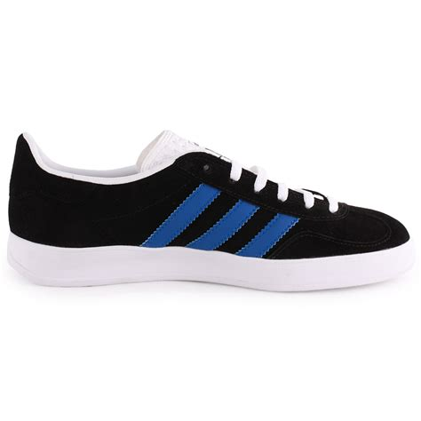 adidas gazelle indoor womens suede black blue trainers new