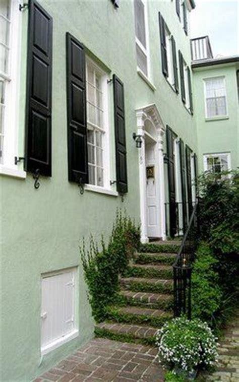 light green exterior walls white trim homes