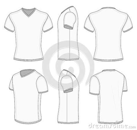 Men S White Short Sleeve T Shirt V Neck Stock Photography Image 38280942 V Neck Shirt Design Template