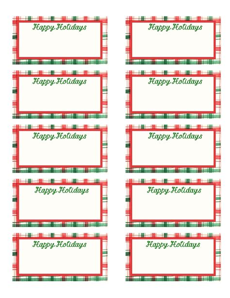 printable holiday name tags 9 best images of printable holiday gift tag templates
