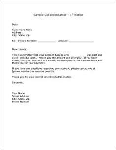 Invoice Collection Letter Exle collection letter letters and letter sle on