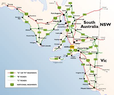 map of south east australia list of highways in south australia
