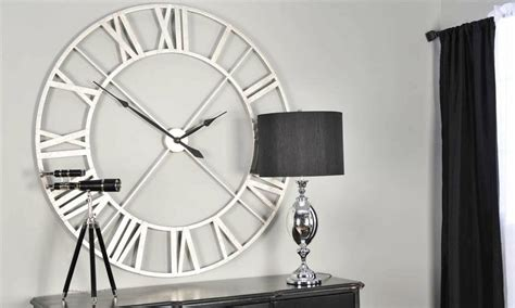 Best Wall Clocks For Living Room Minimal Sleek Oversized Wall Clock Condo Living Room
