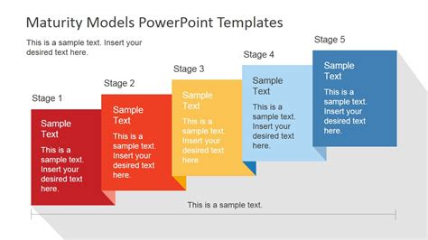 5 Stages Powerpoint Maturity Model Slidemodel Model Powerpoint Presentation Templates