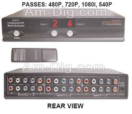 Sale Matrix Mini Dvd R calrad 40 817m 4 x 2 matrix component switcher w from