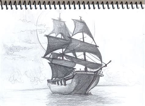 how to draw a boat hard pirate ship by katie grace on deviantart