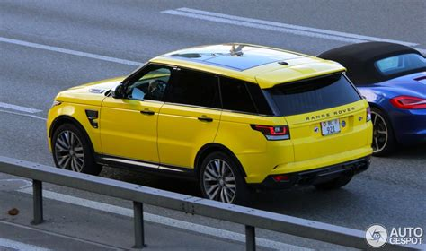 land rover yellow yellow range rover sport svr looks odd