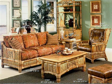 Bamboo Living Room Furniture Bamboo Sunroom Furniture Kozy Kingdom