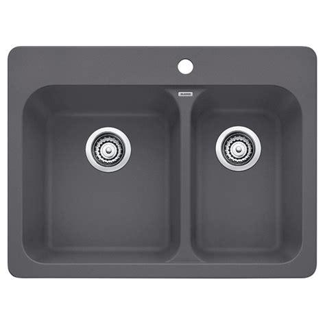 quot silgranit vision 1 5 quot kitchen sink cinder rona