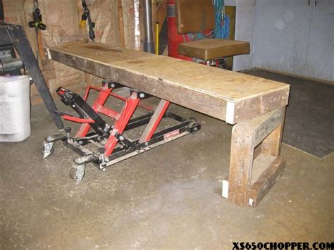 Motorradheber Bauplan by The Best Homemade Bike Table Ever Xs650 Chopper