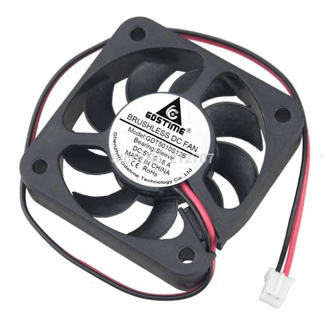 5 volt cooling fan 20pcs gdstime cooling fan 2pin dc 5 volt 50x50x10mm 50mm