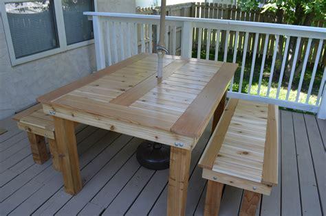 ana white cedar outdoor dining table  benches diy