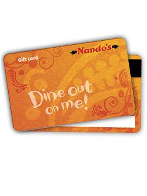 Nandos Gift Card - gift ideas for your boyfriend
