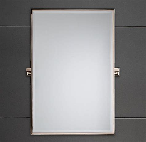 restoration hardware bathroom mirrors dillon rectangle mirror in chrome finish restoration