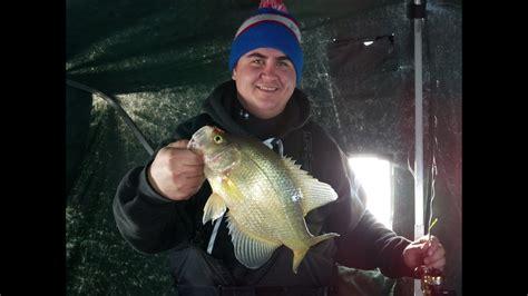 lake   woods ice fishing february  crappie