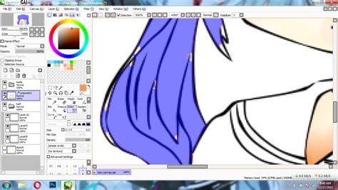 paint tool sai tutorial mewarnai paint tool sai tutorial cara mewarnai rambut anime