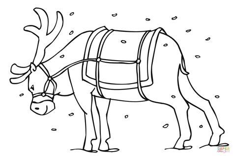 reindeer coloring pages pdf santa s reindeer coloring page free printable coloring