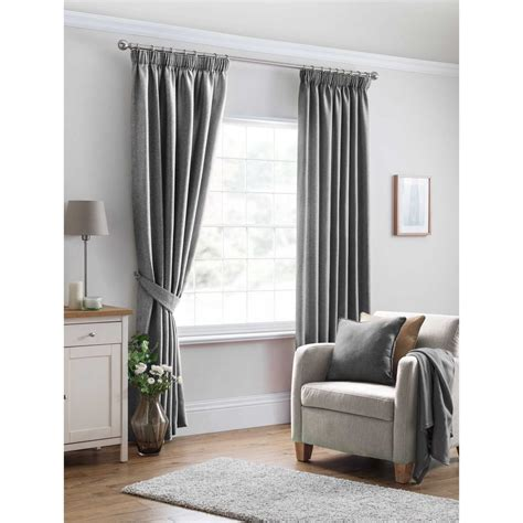 grey ready made curtains uk oxford textured plain grey ready made curtains closs