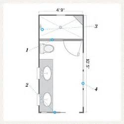 Small Master Bathroom Floor Plans A Bath That S Still Narrow But Brighter And Airier