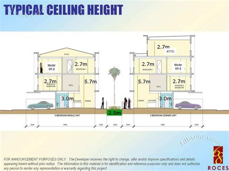 3 Storey Townhouse Floor Plans by Real Estate Home Lot Sale At Typical Ceiling Height