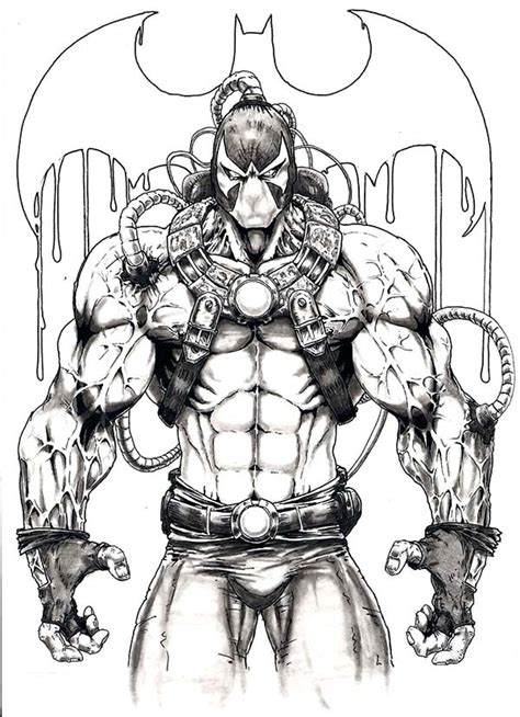 Bane Coloring Page free coloring pages of bane y batman