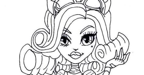 monster high coloring pages catrine demew free printable monster high coloring pages free printable