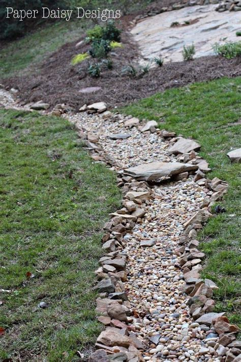 dry creek bed  beauty  drainage landscaping
