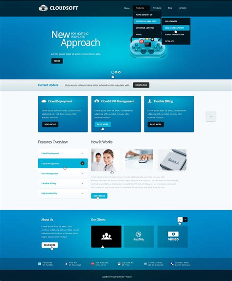 drupal free template software company drupal template 39724