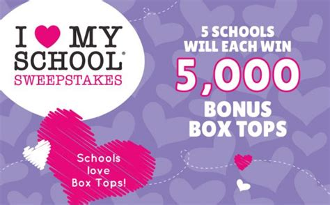 I Love Sweepstakes - box tops 4 education i love my school sweepstakes