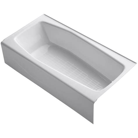 kohler bathtubs home depot kohler villager 5 ft cast iron right hand drain