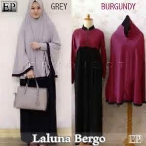 Dress Wanita Laluna Syari baju gamis laluna syari set bergo y200 busana muslim