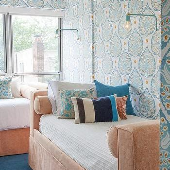 peach and turquoise bedroom shared girls bedroom design ideas