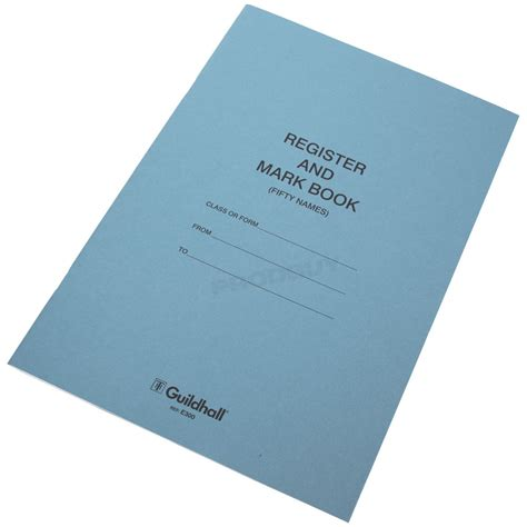 How To Make A Paper Register - 1 x guildhall school register book 48 page paper