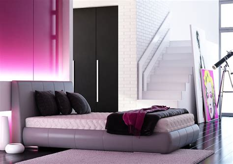 pink and black room decor pink bedroom