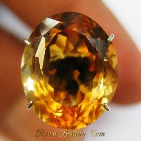 Permata Ruby Cutting Hq Tanz 121 permata citrine kualitas top orangy yellow oval cut 5 65 carat