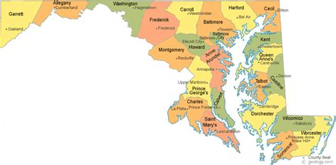 maryland map cities maryland county map