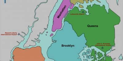 queens map maps queens (new york usa)