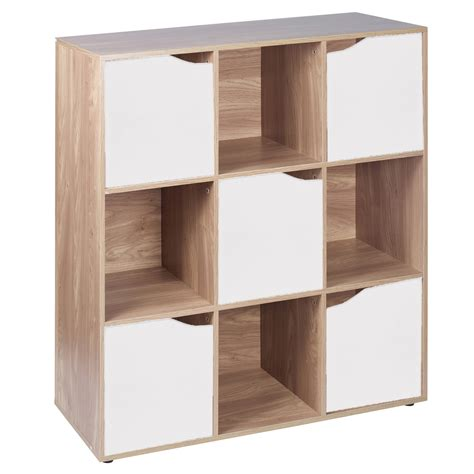 modular bookcases with doors 6 9 cube oak modular bookcase shelving display shelf