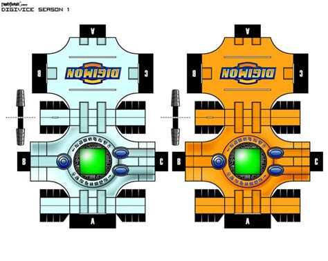 Digimon Papercraft - digimon digivice papercraft www pixshark images